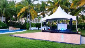 dance floor tent rent punta cana party by didea
