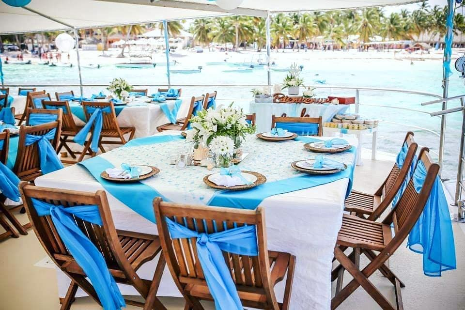 punta cana wedding venue boat