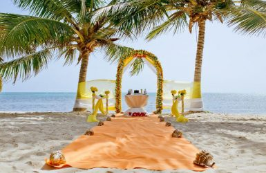 Beach Destination Ceremony Decoration Setup by Didea Events Weddings Punta Cana Dominican Republic